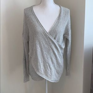 Gray Crossover Sweater